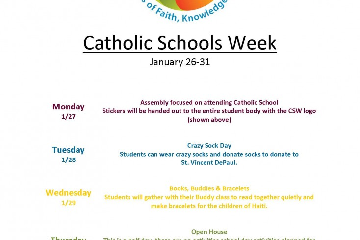 Flyer for Catholic Schools Week-1