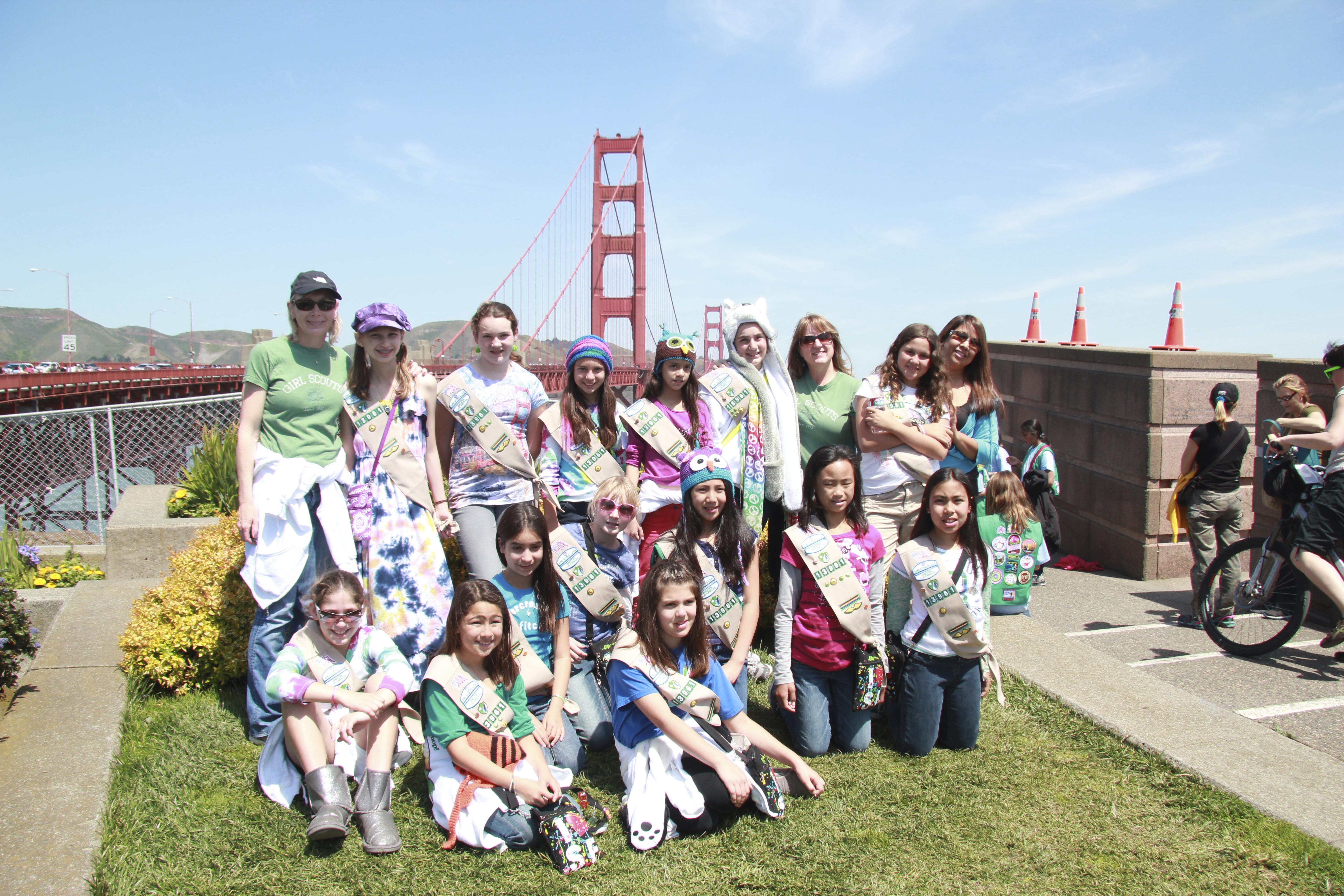 Girl Scouts bridging SF