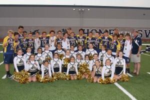 2013 CYO Flag Football Champions and Cheerleaders